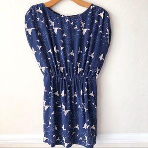 Akiko {Revolve} Bird Print Silk Dress